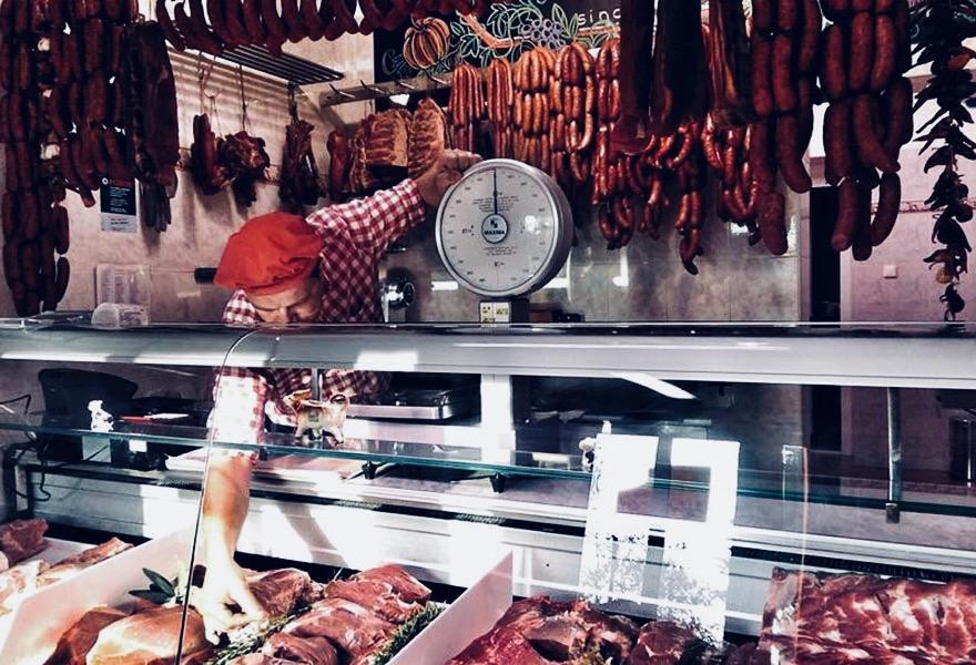 vitrine za meso